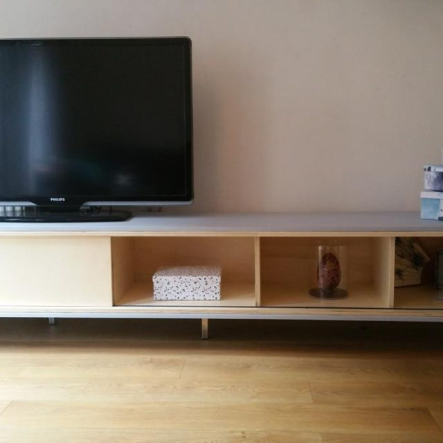 Zelfbouw Tv Kast.Werktekening Tv Meubel Hangend Zelf Maken In Hout Of Mdf